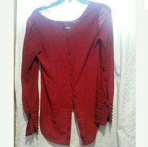 Double zero snap back blouse